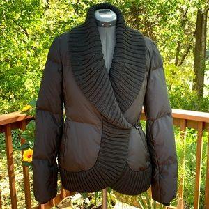 BCBGMaAzria_Puffer_Down & Wool_Jacket_Warm_Black
